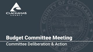 Budget Committee Deliberation & Action 2018