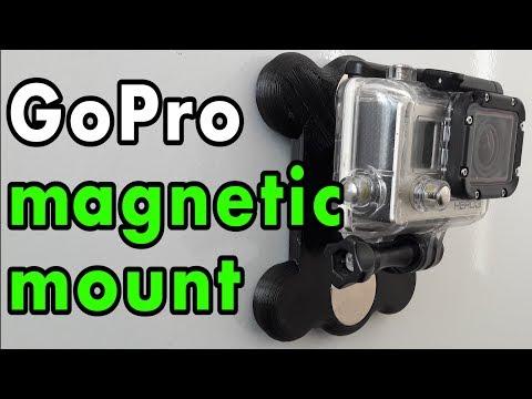 Магнитное крепление сделать для GoPro на 3d принтере // DIY GoPro mag mount how do it