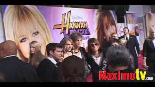 """Hannah Montana: The Movie"" Premiere Arrivals Miley Cyrus, Demi Lovato, Emily Osment"