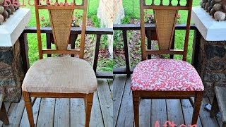 The Mommy Diaries│{diy} Reupholster Dining Room Chairs With Me!