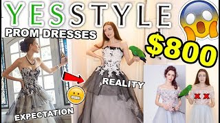 $800 YESSTYLE PROM DRESS HAUL!!! TRYING ON PROM DRESSES UNDER $100!!  2018