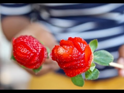 How To Make Easy Strawberry Roses Tutorial Divas Can Cook