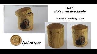 Holzurne drechseln - woodturning urn - DIY - Helmchen
