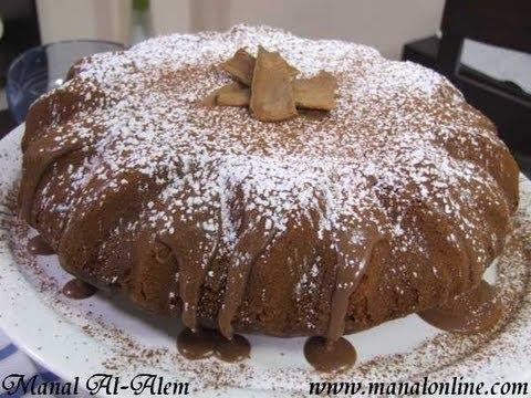 كيك الزبادي بالشوكولاتة - مطبخ منال العالم