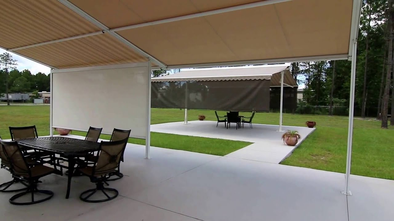 retractable patio cover retractable patio roofing system