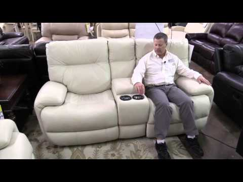 Sanford love seat, power recliner, leather furniture, Hudson's Furniture in Orlando area