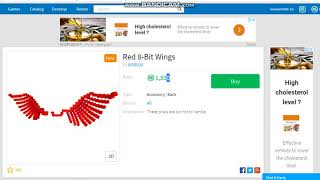 How to get Free Red 8-Wings on roblox 2018