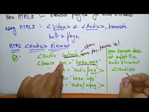 html5 audio tag | HTML |by bhanu priya