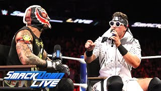 The Awesome One tries to inform Rey Mysterio that underdogs are out...