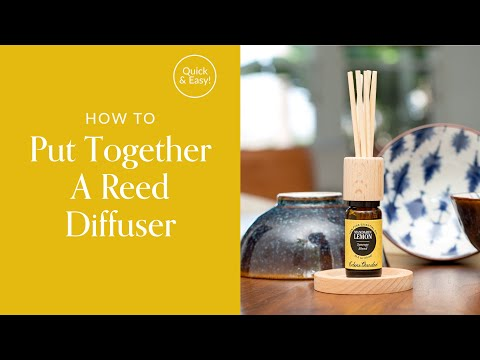How To Put Together A Reed Diffuser Youtube