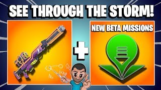 SEE *THROUGH* THE STORM! | New Retrieve The Data Fortnite Save The World PVE | Neon Sniper Rifle