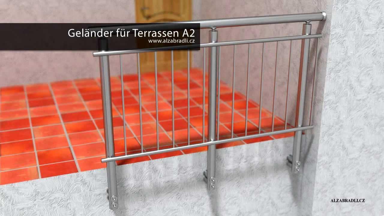 Geländer Für Terrassen Modell A2 - Youtube Terrassen Gelander Design
