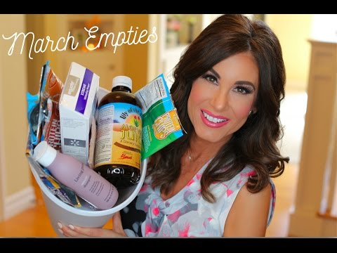 MARCH EMPTIES  |  Hair / Body / Skincare / Teeth / Makeup / Health + Snacks