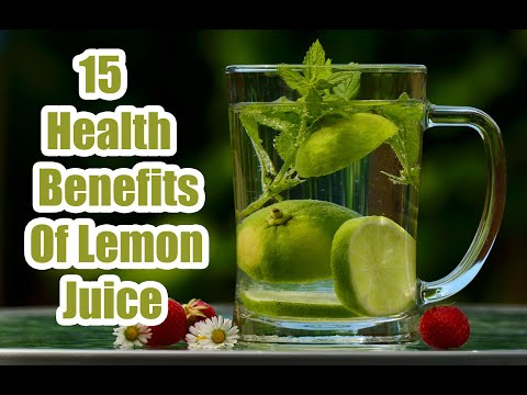 Health Benefits Of Lemon Juice - 15 Benefits Of Drinking Lemon Juice