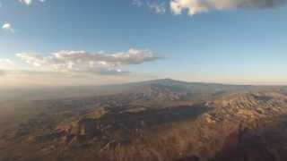 Cessna 152/206 strut-mounted GoPro (Sunset over New Mexico)
