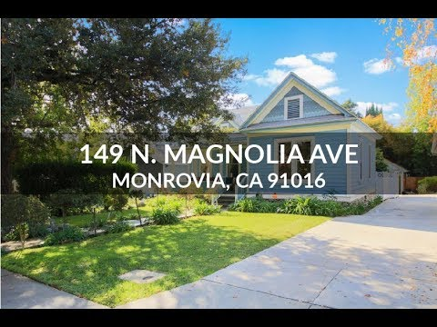 The Speranta Group Presents: 149 N. Magnolia Ave, Monrovia, CA 91016