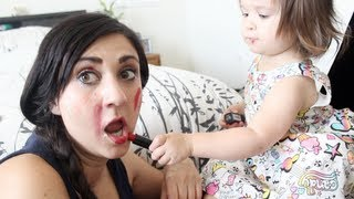 19 month old Makeup Artist!!