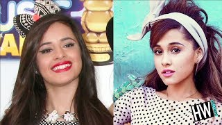 Ariana grande & camila cabello both sport the bow look. but who wore it better?! fresh trend showdown sponsored by wendy's #newsaladcollection. link: www.pol...
