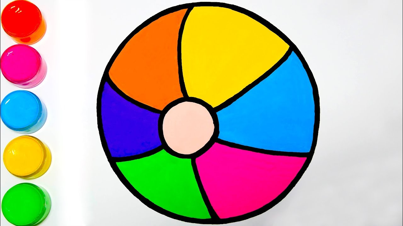 Drawing Rainbow Ball   Easy Drawing Tutorial for Kids ...