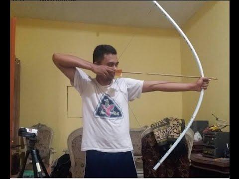 Membuat Busur Panah Dari pipa PVC Tanpa Alat listrik