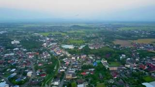 Chiang Rai city of Thailand King Mengrai Monument by Drone