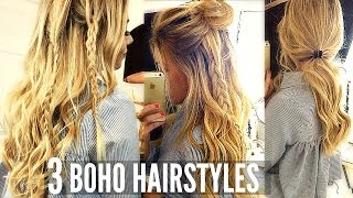 EASY BOHO EVERYDAY HAIRSTYLES / CUTE FOR SCHOOL, COLLEGE OR WORK