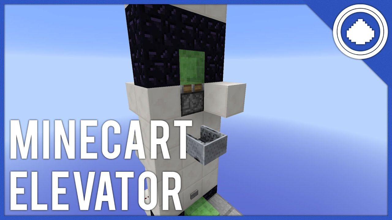 Simple Compact Minecart Slime Block Elevator Minecraft Tutorial