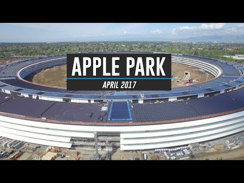 APPLE PARK April 2017 Drone Tour 4K
