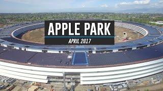 APPLE PARK April 2017 Drone Tour 4K
