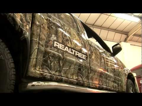 Awesome Realtree camo truck wraps!