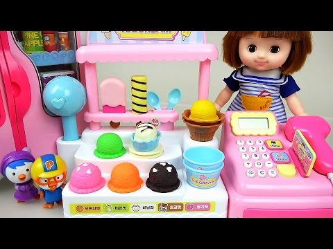 Thumbnail: Baby doll and Pororo Ice Cream Shop and Kinder Joy toys