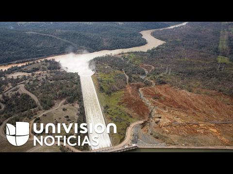 Evacuados en California por la represa Oroville no saben cuándo podrán volver a sus casas