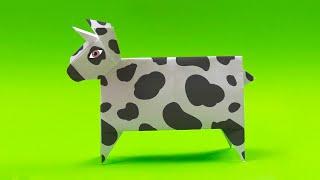 как сделать корову из бумаги оригами