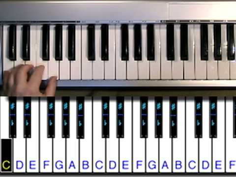 B Flat Chord Piano Left Hand Piano Practice: C Majo...