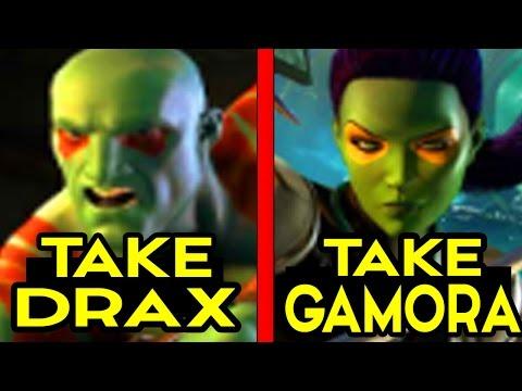 Guardians of the Galaxy Telltale CHOICE: TAKE DRAX / TAKE GAMORA Alternate Choices