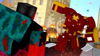 Minecraft : HULKBUSTER Vs HULK VERMELHO   - (Vida de Herói #9)