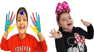 Masal and Öykü learn to clean hands - Funny Kids