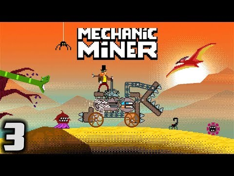 BATTLE TANK! - Let's Play Mechanic Miner Gameplay Part 3 (Vehicle Construction Survival)