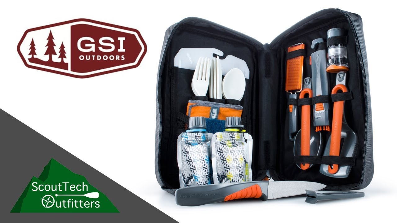 gsi outdoor 11 piece gourmet backpacking kitchen set review - youtube