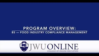 Program Overview: BS — Food Industry Compliance Management