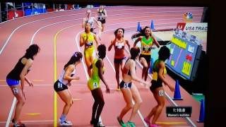 Jamaica women's winning the 4x200 meters @ the new York armory invitational meet.