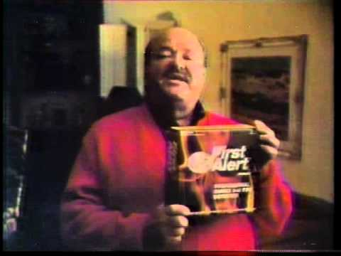 William Conrad 1977 First Alert Smoke Detector Commercial
