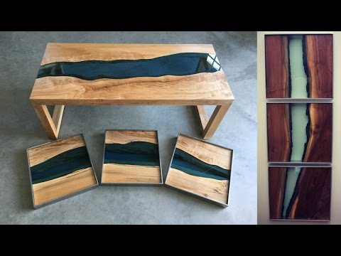 TGT Studios Live Edge Wood River Series - Triptychs & Tables