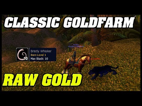 CLASSIC: Goldfarming For lvl 40 Mount Part 2 | RAW GOLD | LOW LVL FARM