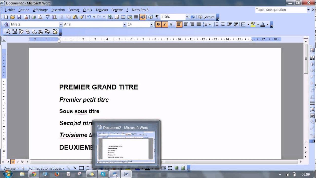 Word 2002 Fonctions avancees. Livret -