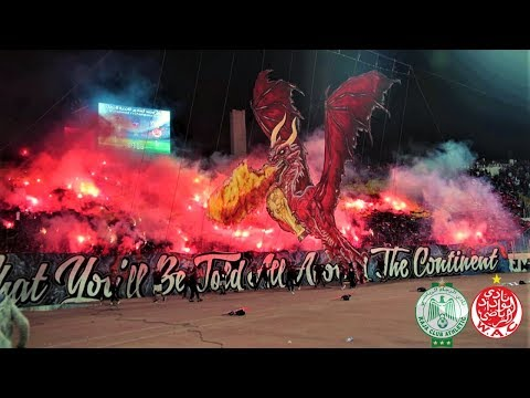 Tifo & Pyro | The Casablanca Derby: Raja - Wydad | ULTRAS AVANTI
