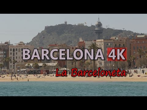 Ultra HD 4K Barcelona Travel La Barceloneta Beach Spain Tour