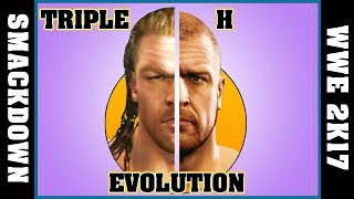 TRIPLE H evolution [SMACKDOWN - WWE 2K17]
