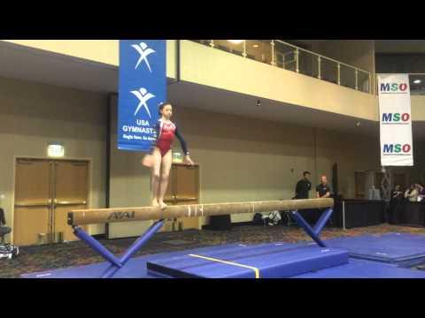 Adriana Davinni- Beam- 2015 Brestyan's Las Vegas Invitational- 9.625
