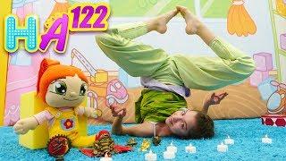 Hayal Ailesi. Polen ve Lili yoga yapıyorlar!